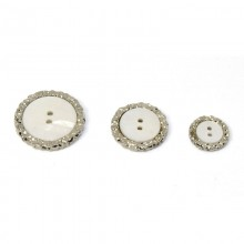 button 2 holes light gray mother-of-pearl with silver knurled crown