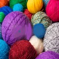 multi-coloured yarn