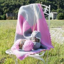 kit coperta a quadrotti da divano in lana